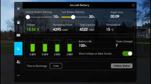 DJIGO Battery Screen Shot