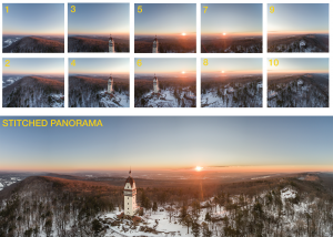 Notice the large overlap between the 10 pictures used to create this panorama.