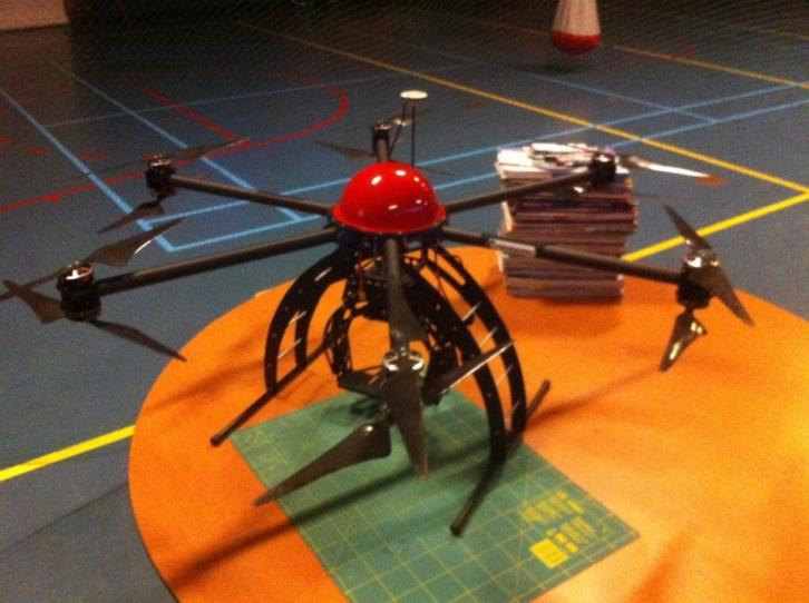 12 motor coax heavylift hexacopter + dji naza + gps + av200