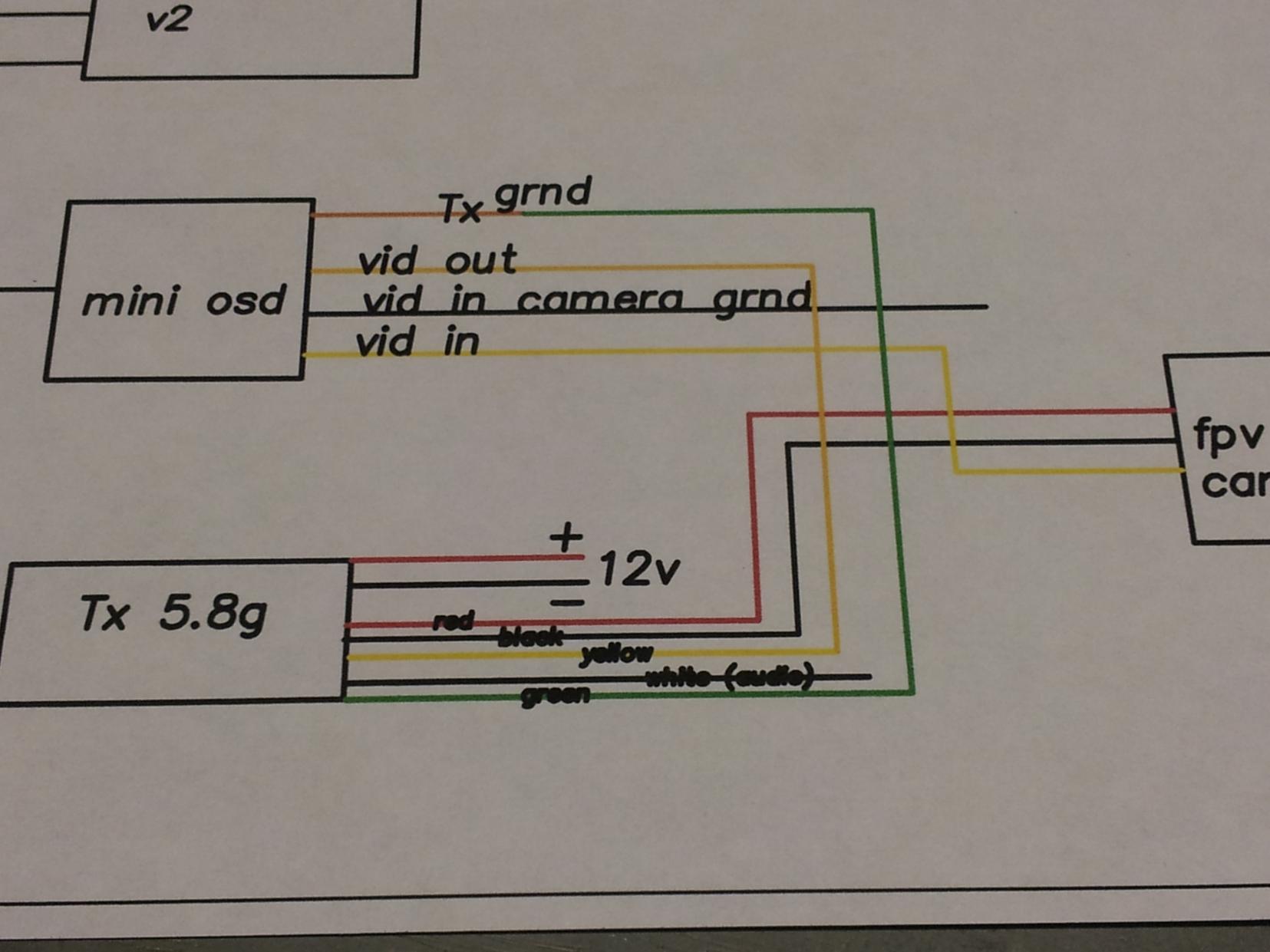 mini osd setup question dronevibes drones, uav's, multirotor iosd mini wiring diagram at virtualis.co