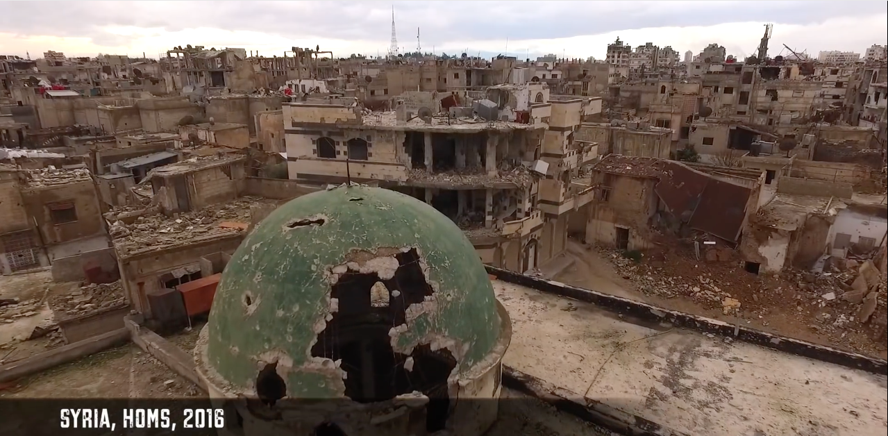 This Terrifying Drone Video Brings You to a Desolate War Zone in Homs, Syria
