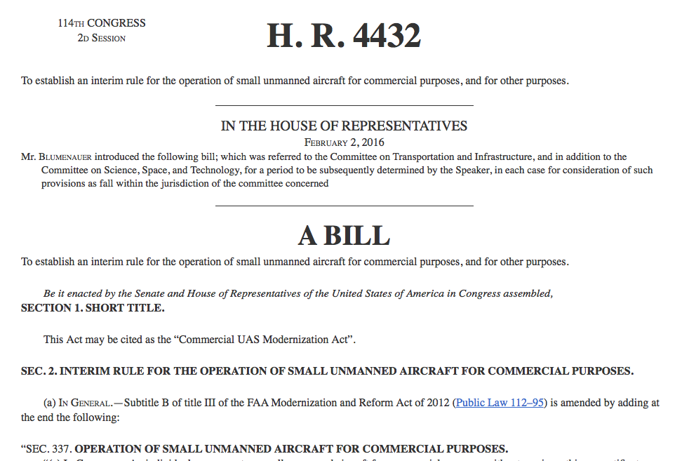 This Proposed Commercial Micro UAS Bill Holds Great Promise for Drone Business Owners.